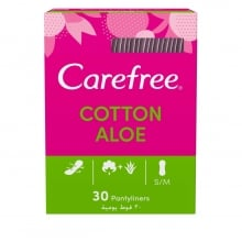 Carefree Cotton Feel Aloe Vera Panty Liners 30-Pack