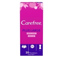 Carefree Plus Large Panty Liners With Fresh Scent 20-Pack