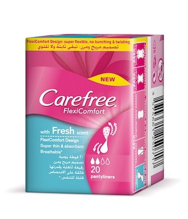 Carefree FlexiComfort With Fresh Scent Panty Liners