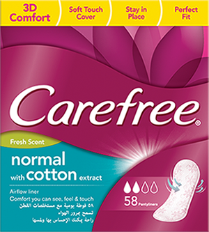 Cotton Feel With Fresh Scent Panty Liners