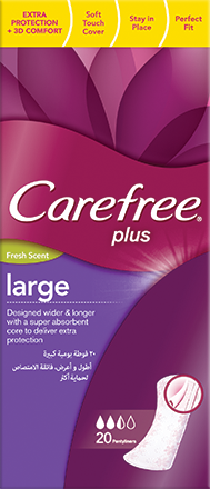 Carefree Large Panty Liners With Fresh Scent