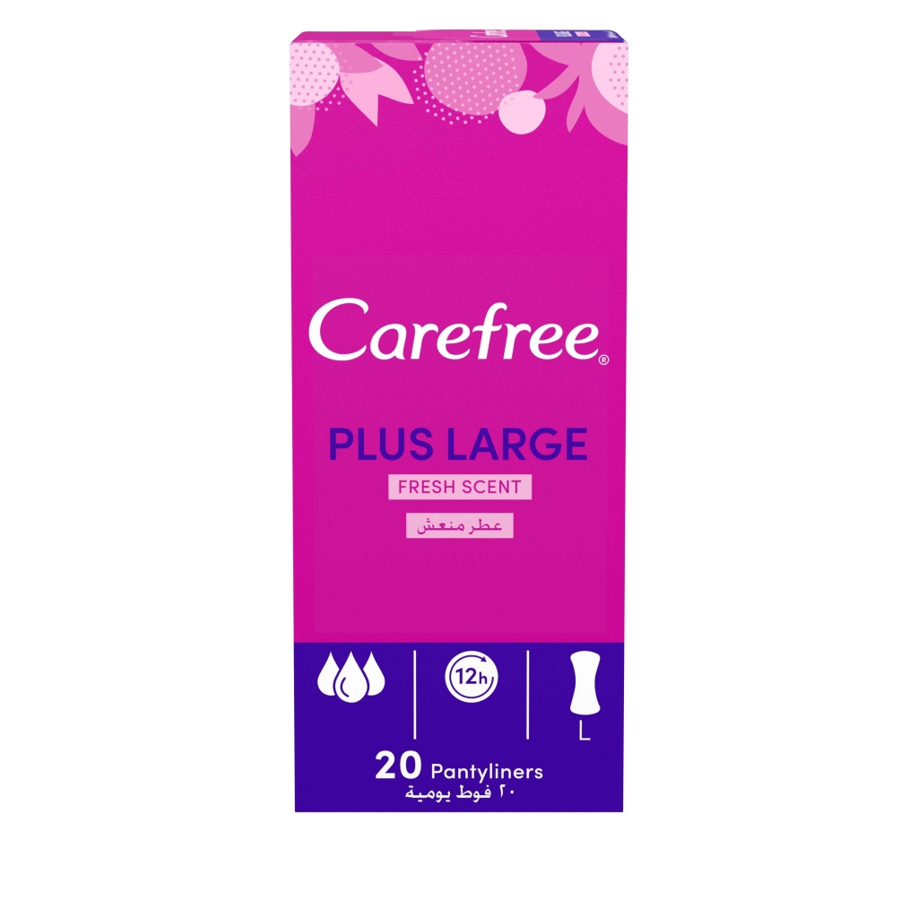 Carefree Plus Large Panty Liners Fresh Scent 20 pack